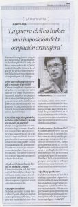 Entrevista al Diari de Tarragona a Alberto Arce