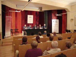 Fotografia de l'acte de lliurament a la sala d'actes; 2009