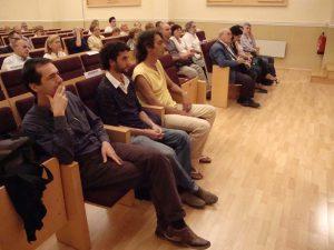 Fotografia de la sala d'actes en el Memorial 2009