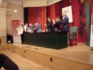 Moment de l'entrega del Memorial 2009