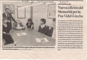 Notícia al Diari de Tarragona sobre el Memorial 2009
