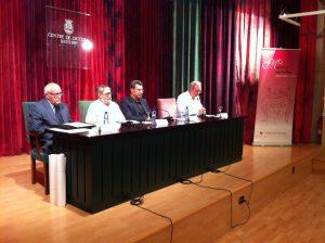 Fotografia de la sala d'actes durant l'acte del Memorial 2012
