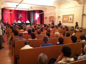 Sala d'actes durant el lliurament del Memorial per la Pau 2012